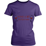 Wine A Bit Womens Shirt