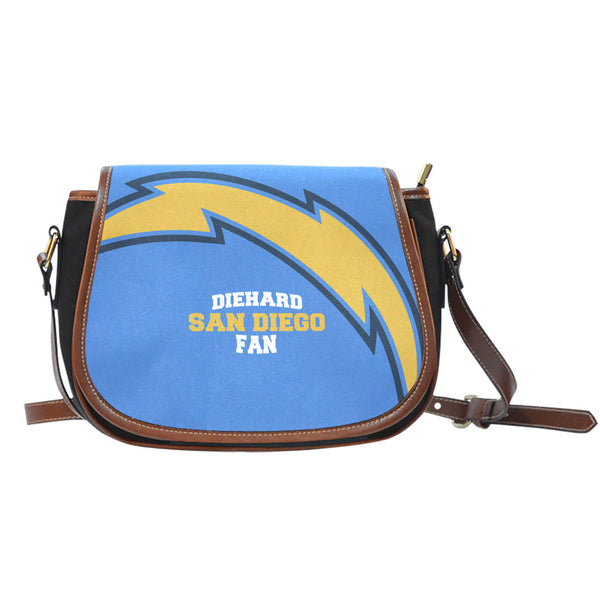San Diego Canvas/Leather Saddle Bag