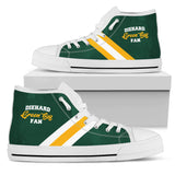 Green Bay High Top Canvas Shoe