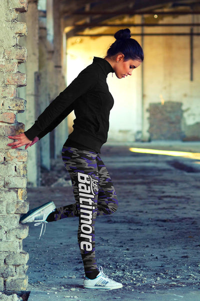 Baltimore Football Camo Leggings