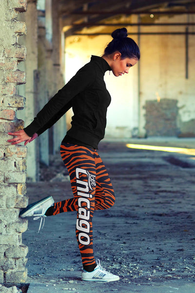 Chicago Football Striped Leggings