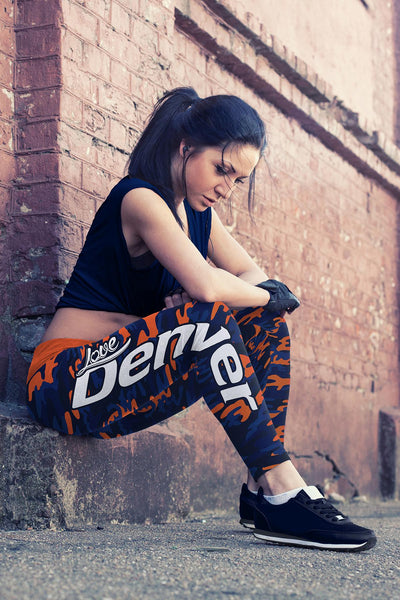 Denver Football Camo Leggings