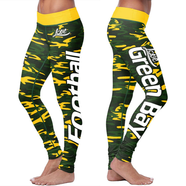 Green Bay Football Camo Leggings