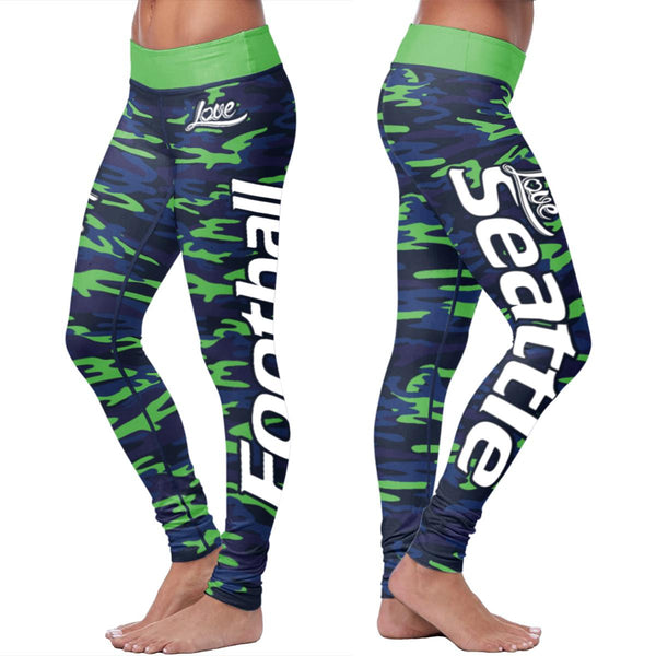 Seattle Football Camo Leggings
