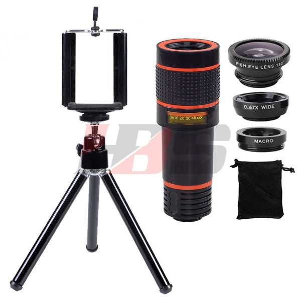 12X Zoom Phone Telescope Bundle