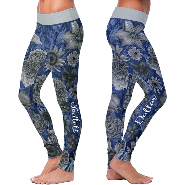 Dallas Flower Football Leggings