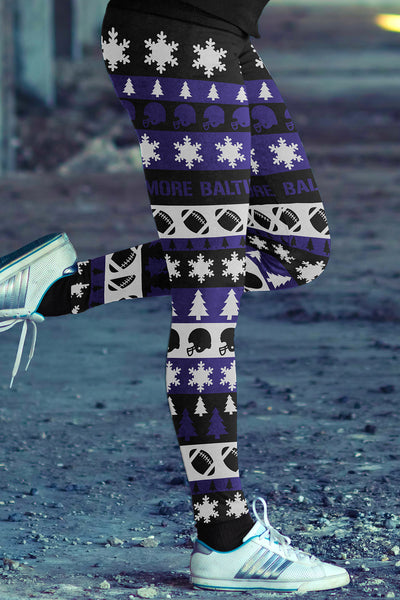 Baltimore Ugly Christmas Classic Football Leggings