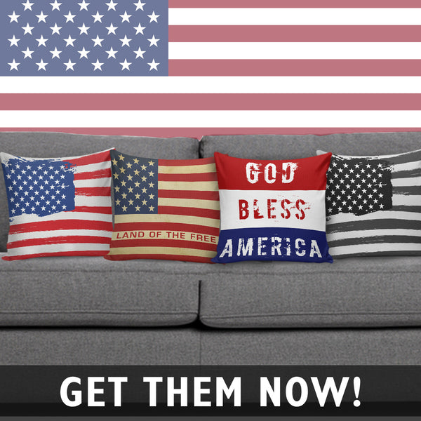 Land Of the Free Pillow Cover