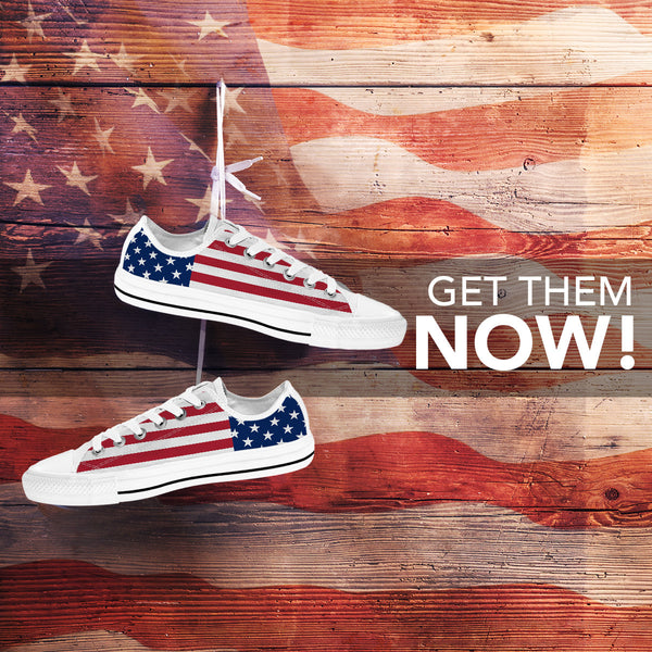 Low Top American Flag Shoes