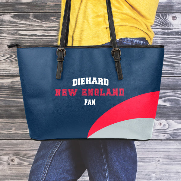 New England Large Leather Tote Bag