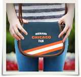 Chicago Canvas/Leather Saddle Bag