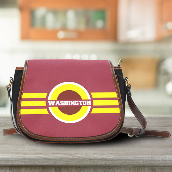 Washington Canvas/Leather Saddle Bag