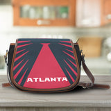 Atlanta Canvas/Leather Saddle Bag