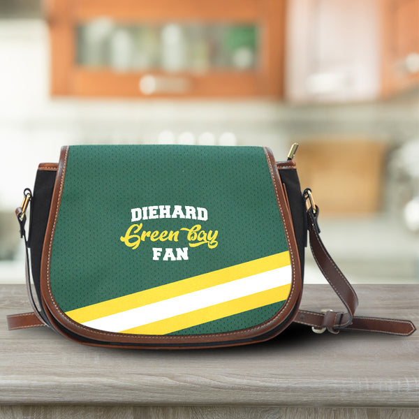 Green Bay Canvas/Leather Saddle Bag