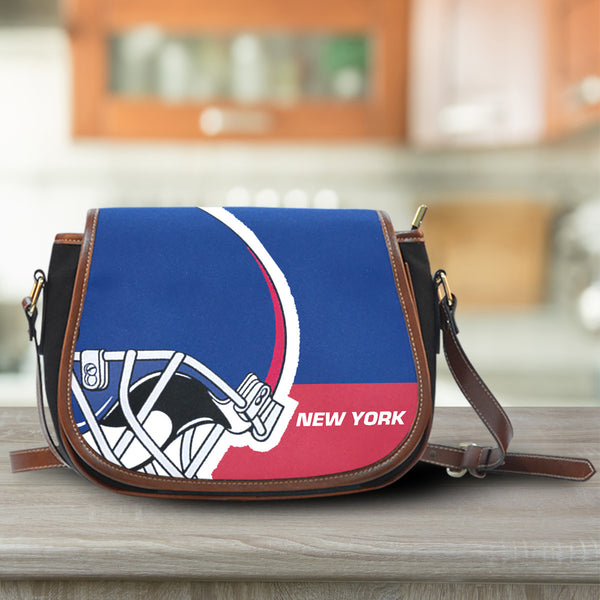 New York Canvas/Leather Saddle Bag