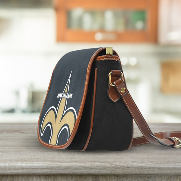 New Orleans Canvas/Leather Saddle Bag