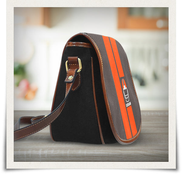 Cleveland Canvas/Leather Saddle Bag
