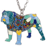 Enamel English Bulldog Necklaces