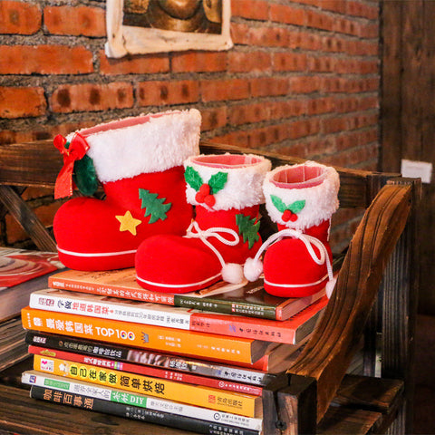 2pcs/set 2016 Christmas Gift Flocking Children Candy Boots for ...