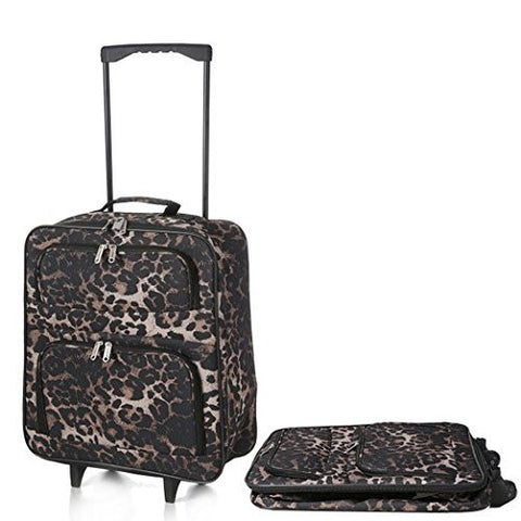 "Cabin Approved 21"" Lightweight Folding/collapsable Hand Luggage, Ryanair/easyjet/ba Cabin Approved Wheeled Trolley Suitcase Bags, Trolley Wheeled Luggage Bags for 55x40x20cm Carry on Small Baggage."