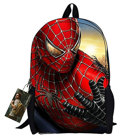 New Style Spiderman Patterns Back to School Backpacks Superman School Bags