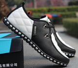 Fashion Men's Leather Sneakers Waterproof Casual Sports Shoes for Men (Please choose 0.5 size larger! ! !) Thermal Short Snow Boots