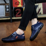HOT British Style Men's Casual Shoes Flat Shoes Leather Shoes