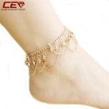Anklet 2016 New Ankle Bracelet  Gold Anklets For Women Summer Fine Jewelry Barefoot Sandals