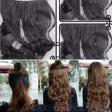 Chic Full Head Clip Curly Wavy Women Synthetic Hair Extension 3 Colors New
