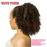High sports ponytail hairstyle afro kinky curly Claw Ponytails for black women one piece hair Extensions braiding hair