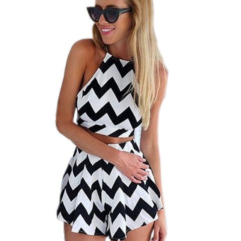 2016 summer new women's fashion wear striped wave print  sexy and mini dress T-shirt