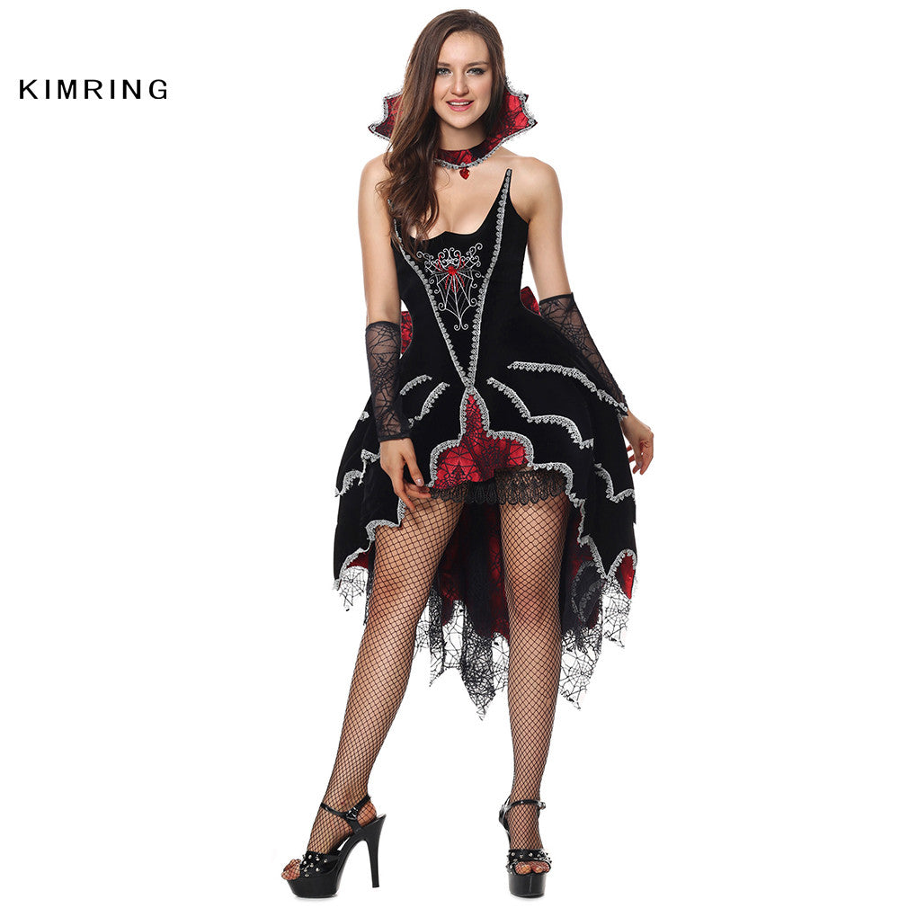 Sexy Witch Halloween Costume Gothic Vampire Cosplay Magic Moment ...