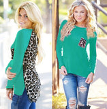 Large Plus Size Leopard Chiffon Blouse Tops Women Spring Summer Clothes Multi Color