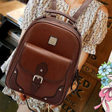 2016 High Quality Brand Patchwork Women Backpacks Mochila Women's PU Leather Backpack Travel bag School Backpack
