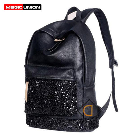2016 Fashion Women Backpack Big Crown Embroidered Backpack Wholesale Women Leather Backpack School Bags