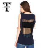 2016 Women's Fashion Sexy Blouse Tees Top Tanks with Hollow Out Back and Delicate Handmade String Tassel Brand New
