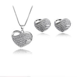 Necklace Earings Fine Jewelry for Girl Women Wedding Party Silver Gold-plated Necklaces