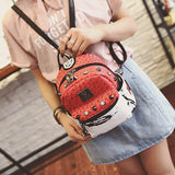 Women Backpacks Rivet Leather Bags Small Shoulder Schoolbags For Girls Female Outdoor Travel Sports Bag backpacks & carriers