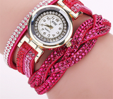 Brand Fashion Luxury Rhinestone Bracelet Women Watch Ladies Quartz Watch Casual Women Wristwatch