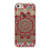 Retro Case For Apple iPhone 5 5s SE Floral Paisley Flower Mandala Henna Coque Clear Silicone Soft Cover Fundas