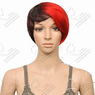 Top Quality Perruque Synthetic Short Wigs Yellow color between black