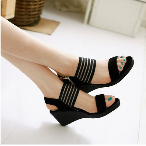2016 New Arrivals Fashion Wedges High Heels Platform Dress Shoes For Women Sexy Casual Summer Dress Sandal Hot Sale
