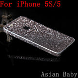 Luxury Glitter Decal Sticker Case Bling Phone Cover Silver Gold Pink Thin Carcasa Coque Funda Capa Para For Apple iPhone 5S 5 SE