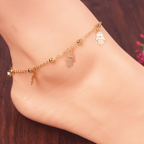 Hot sale fashion hand anklet beach foot jewelry ankle braclet jewerly