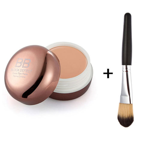 Cosmetic Blemish BB Cream Concealer Smooth Moisturizing Face Cover Foundation Makeup Brush