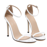 Fashion Classics toe Buckle trap High Heels Sandals Shoes Woman Black White Red Wedding Shoes