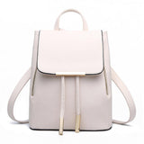 Women Backpack High Quality PU Leather Mochila Escolar School Bags For Top-handle Backpacks Herald Fashion