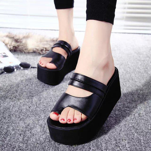 Ultra High Heels Slippers 2016 Summer Women PlatformWomanShoes Flip Flops Slip on Sandals