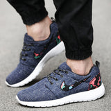 2016 Brand Men Shoes Spring Summer Breathable Mesh Outdoor Causal Shoes BSP64 Fashion Print Flat Men Leisure Shoe Zapatos