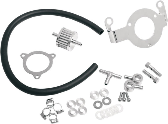 Drag Specialties Crankcase Breather/Support Bracket Kit - Part #10130036 - Hogparts UK